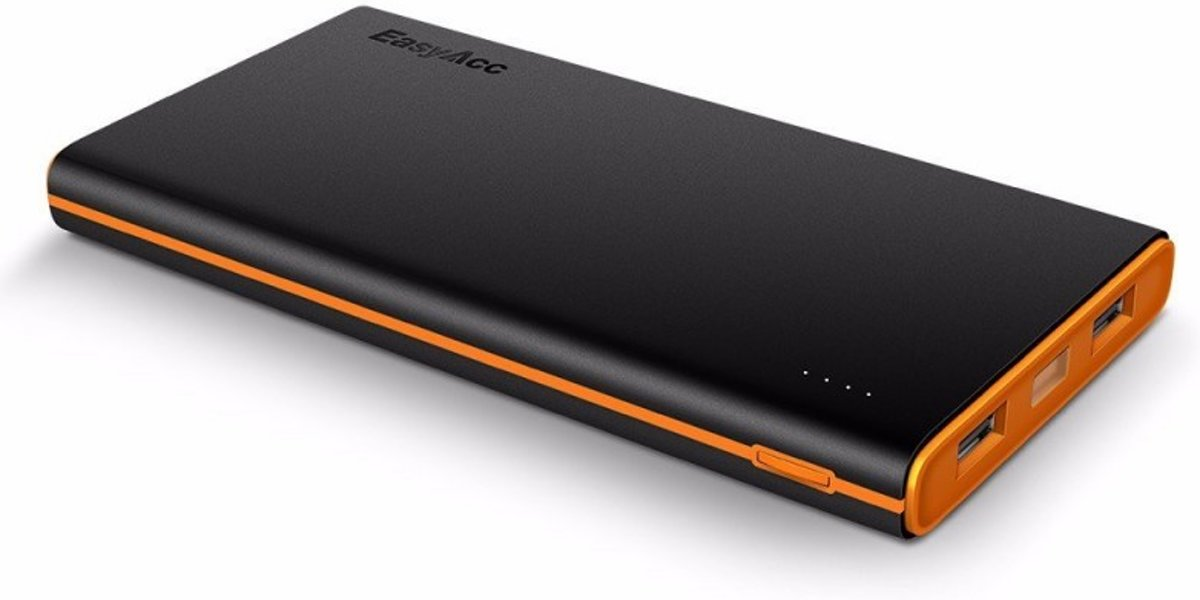10.000 mAh Quick charge powerbank - Oranje