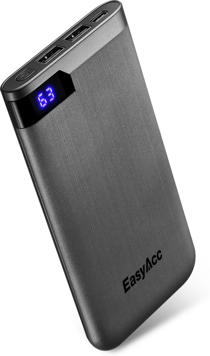 10.000 mAh Quick charge powerbank met display