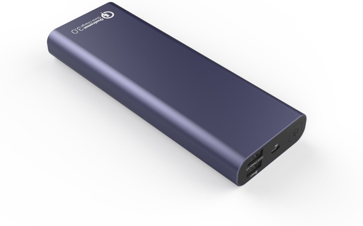 20.000 mAh Quick Charge 3.0 Powerbank - Blue