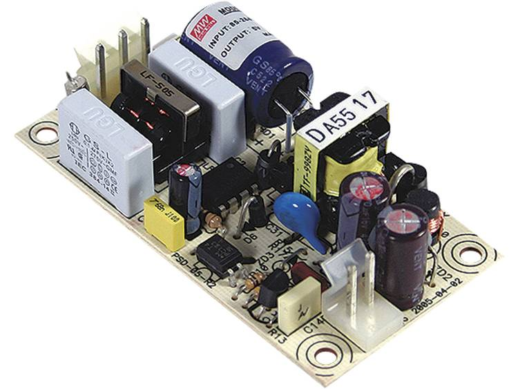 AC/DC inbouwnetvoeding open Mean Well PS-05-15 15 V/DC 0.35 A