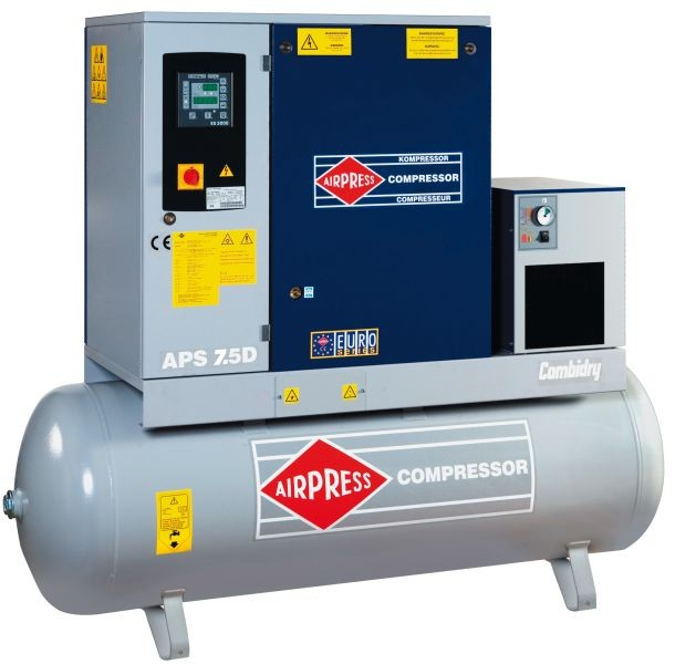 AIRPRESS 400V schroefcompressor combi 7.5 DRY