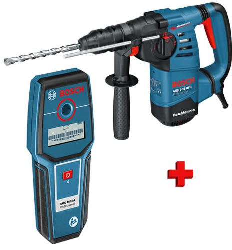 Bosch 0615990DW1 GBH 3-28 DFR SDS-plus Combihamer incl. detector (GMS100) in L-Boxx - 800W - 3,5J