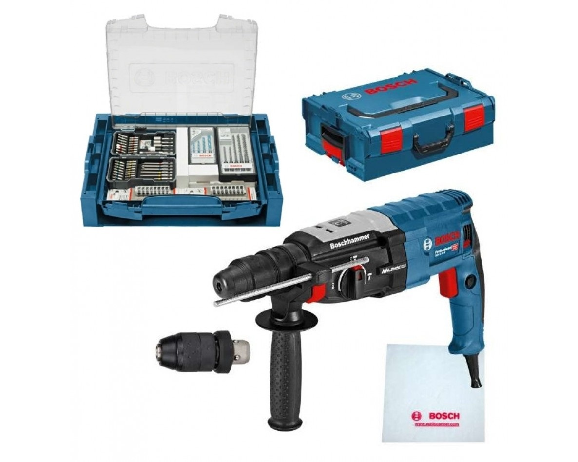 Bosch GBH 2-28 F SDS-Plus Combihamer in L-Boxx incl. 68-delige accessoireset in i-BOXX + i-Rack - 880w - 3,2J