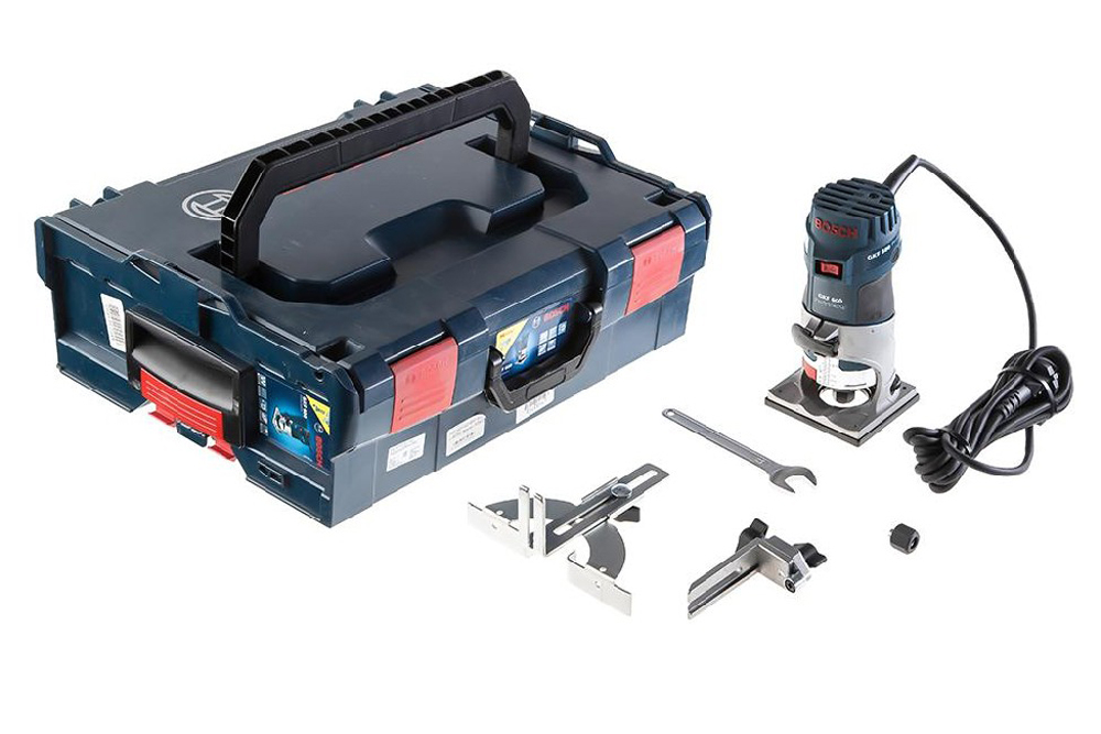 Bosch GKF 600 Kantenfrees + 2 extra accessoires in L-boxx - 600W - 8mm