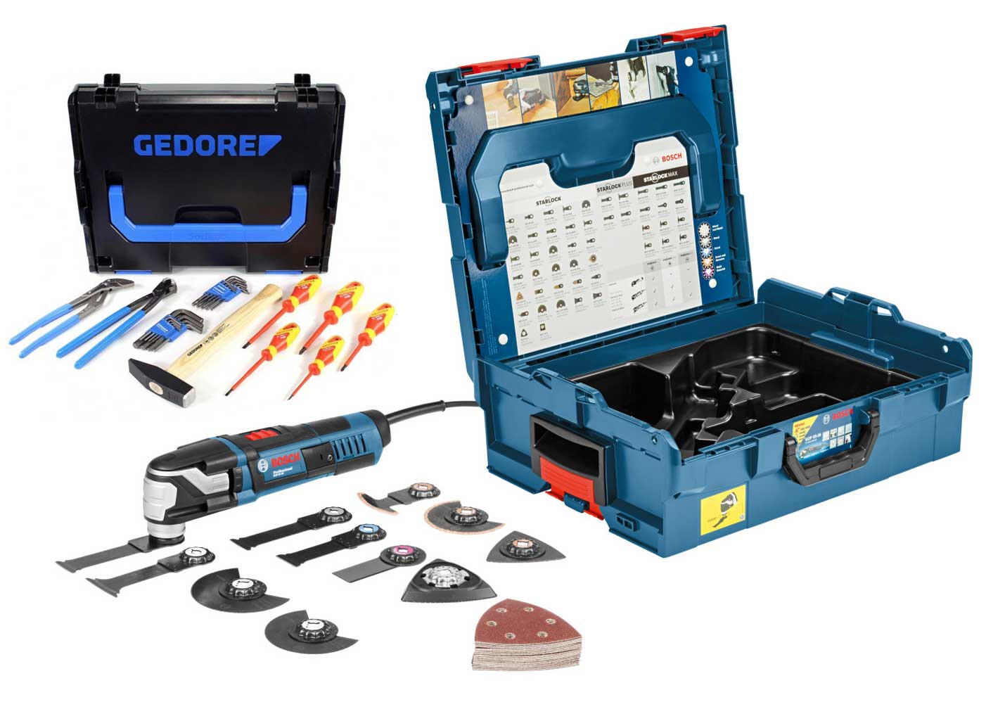 Bosch GOP 55-36 Multitool + accessoires in L-Boxx - 550W - variabel + 26 delige Gedore set in L-boxx