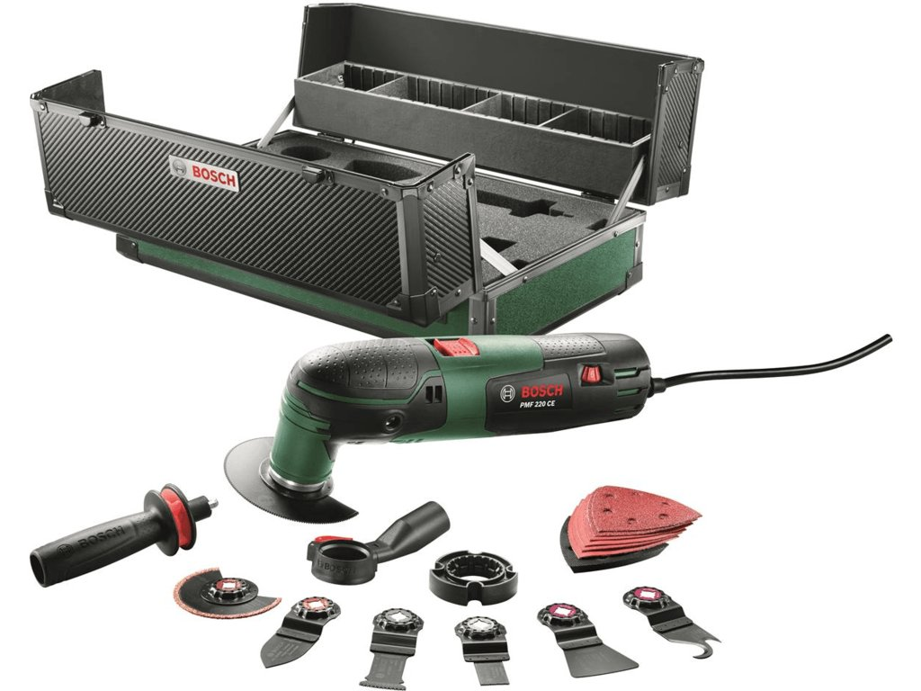 Bosch PMF 220 CE Toolbox Multitool in koffer incl. 17 delige accessoires set - 220W - Oscillerend
