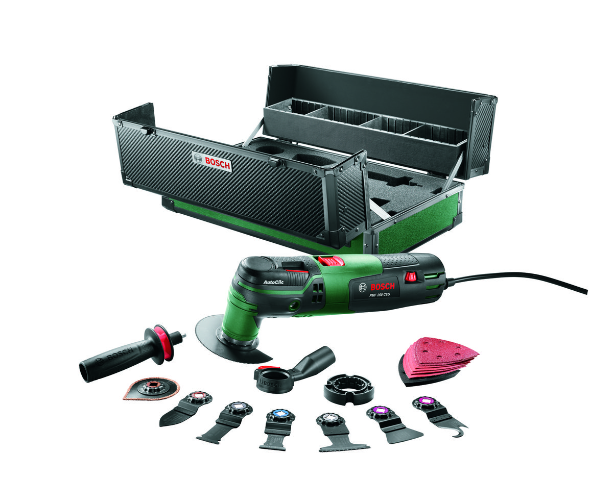 Bosch PMF 250 CES Multitool incl. accessoires set in koffer - 250W - Oscillerend