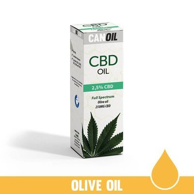 CBD Olie 2,5% (250 MG) 10ML Full Spectrum Olijf olie