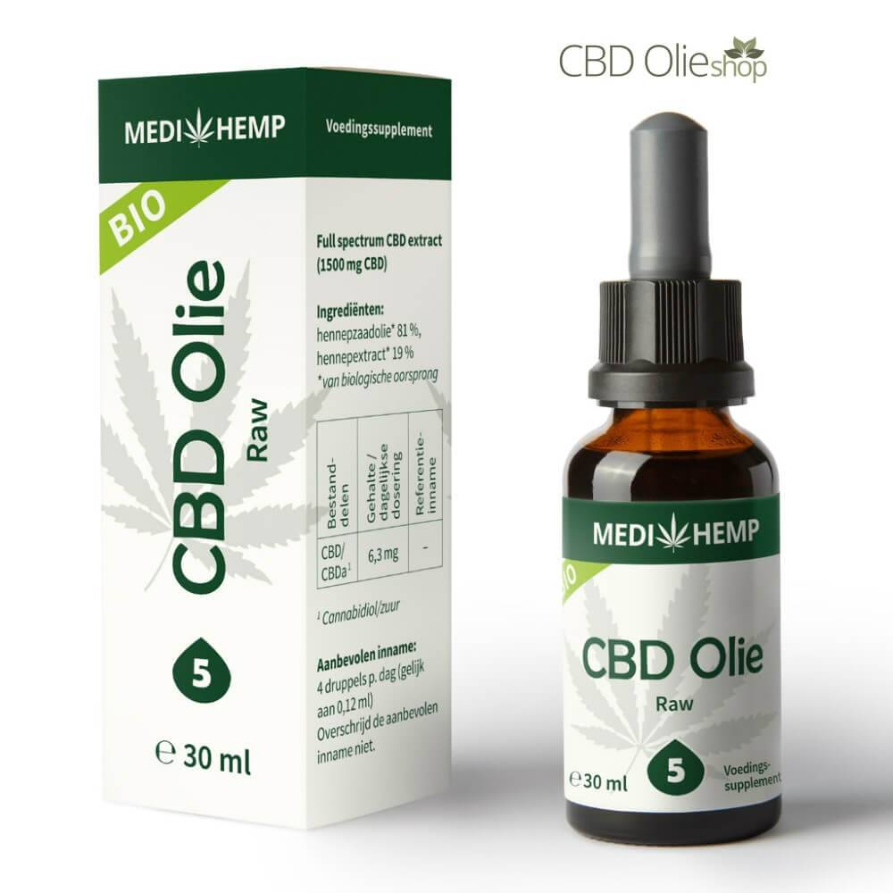 CBD Olie Raw 5%, 30 ml