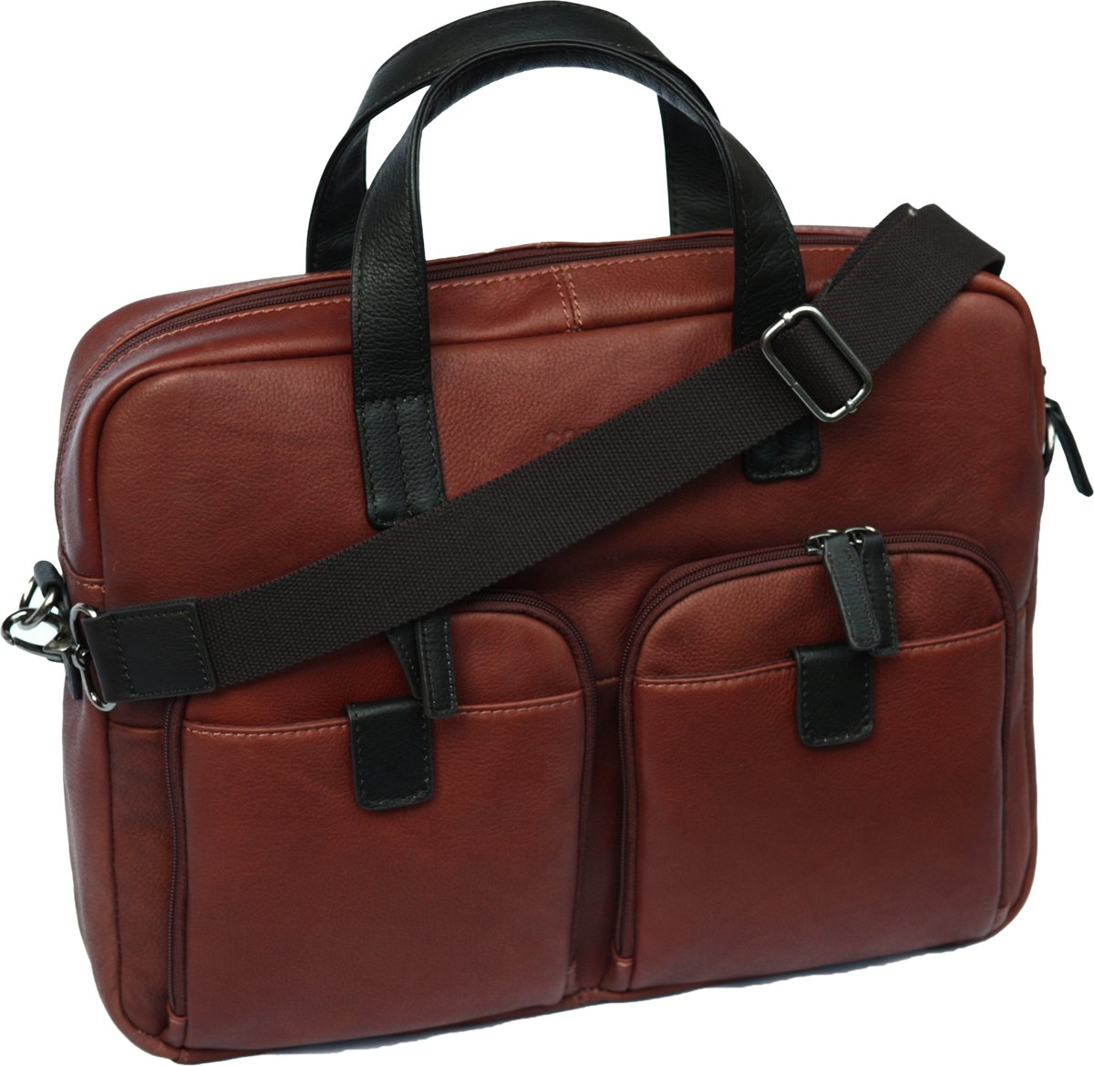 Cortez Colombian Leather Laptop Briefcase (87803)