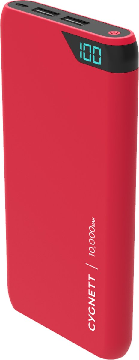 Cygnett Powerbank 10000mAh ChargeUp Boost 2.4A Red