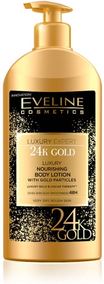 Eveline Cosmetics Luxury Expert 24k Gold Nourishing Body Lotion With Gold Particles 350ml.