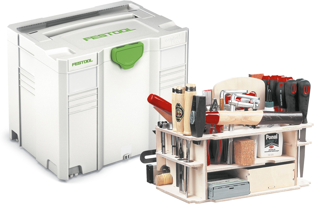 Festool 497658 / SYS-HWZ SYS 4 T-LOC Systainer incl. houtinzet - 396 x 296 x 315 mm