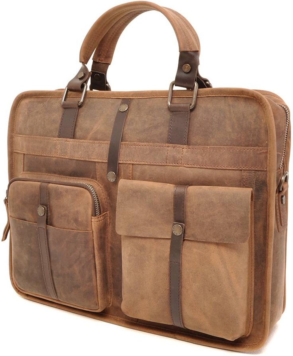 LEREN LAPTOP TAS Ruvido 826-130-71 Coffee