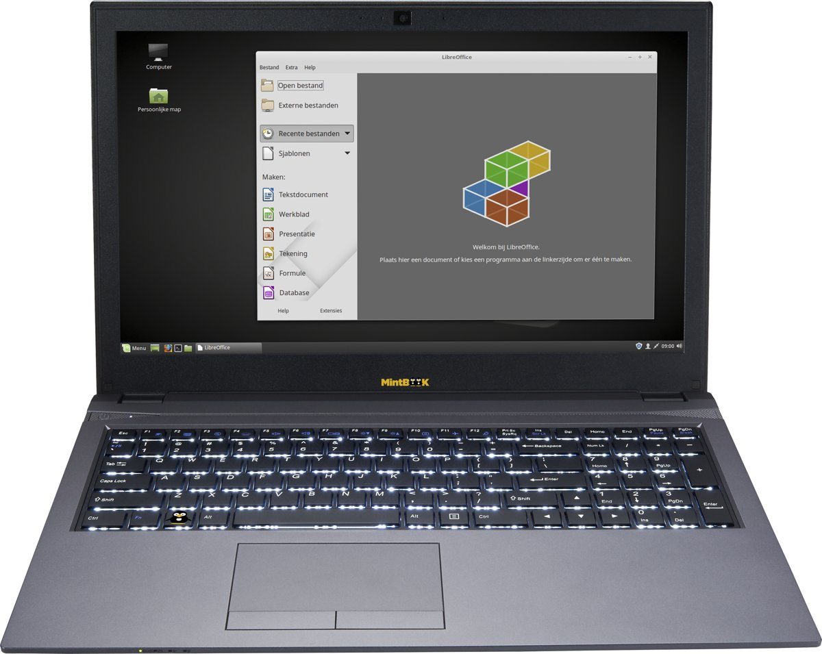"Linux-mint Privacy laptop 15.6"" Full-HD azerty"