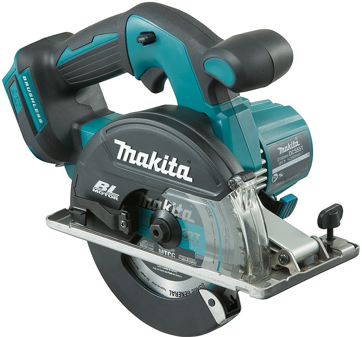 Makita DCS551Z 18V Li-Ion Accu metaalcirkelzaag body - 150mm - koolborstelloos