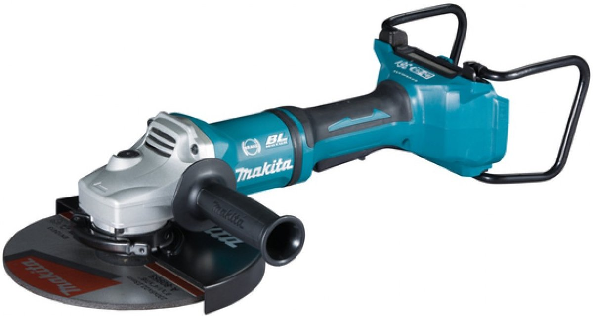 Makita DGA900ZKX2 36V (2x 18V) Li-Ion accu Haakse slijper body in koffer - 230mm - koolborstelloos