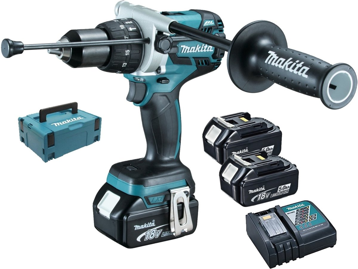 Makita DHP481RT3J Accu Klopboor-/schroefmachine 18V 5,0Ah Li-ion in Mbox