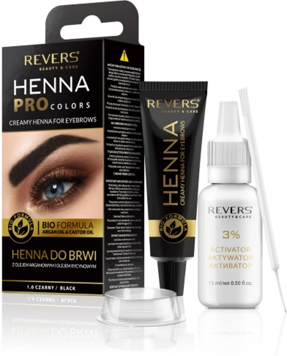 REVERS® Eyebrow Henna Pro Colours Black 15ml.+15ml.