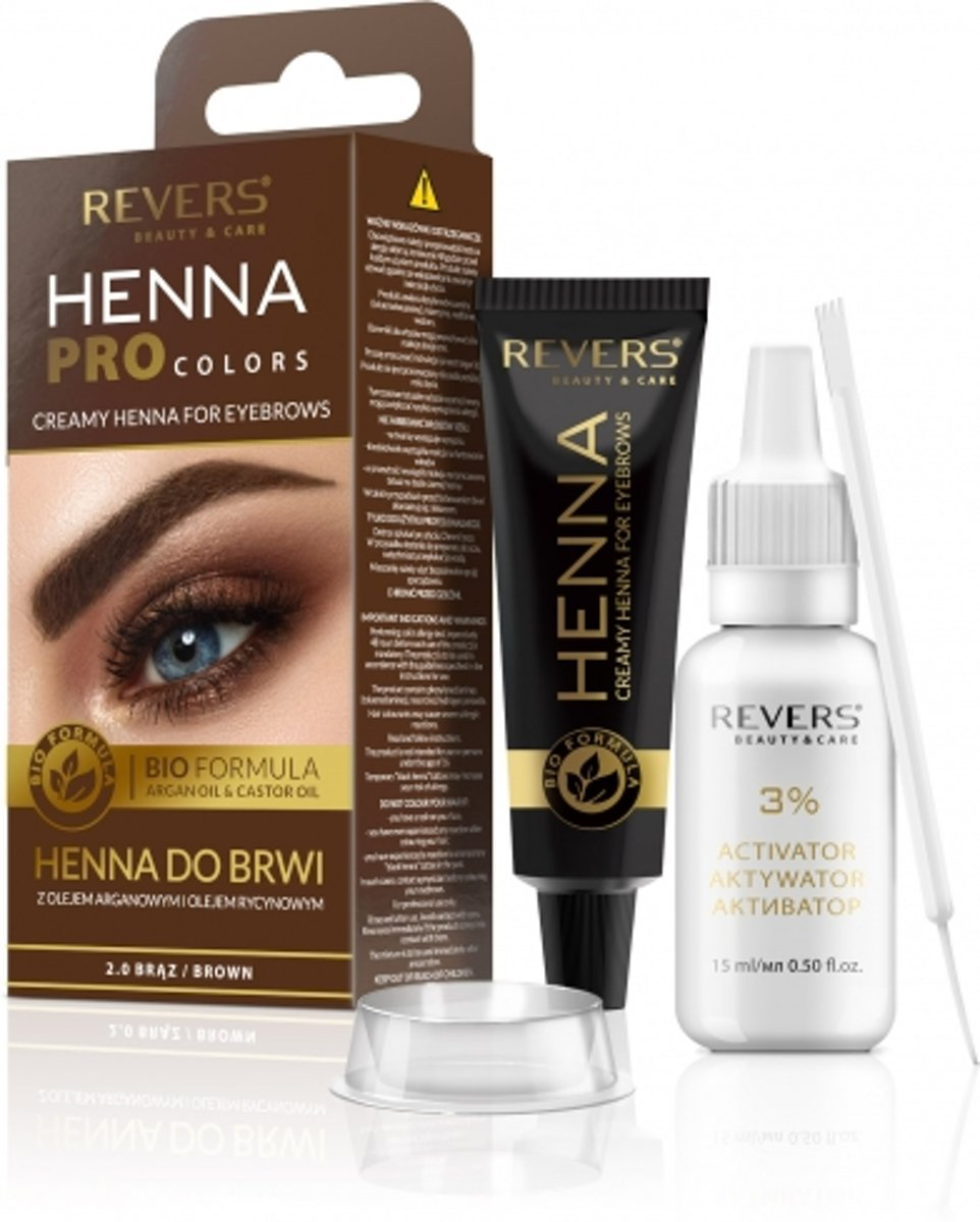 REVERS® Eyebrow Henna Pro Colours Brown 15ml.+15ml.