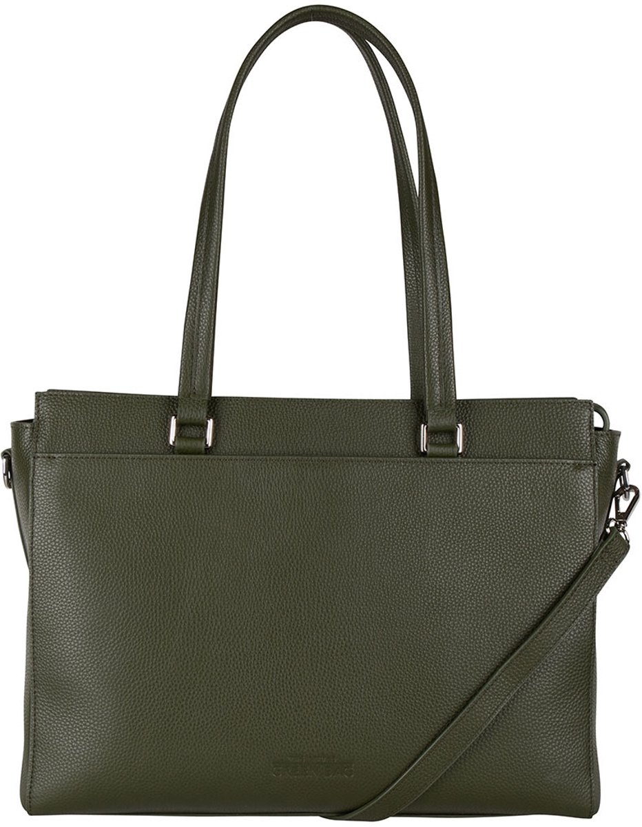 The Little Green Bag Schoudertassen Maple Laptop Tote 13 Inch Groen