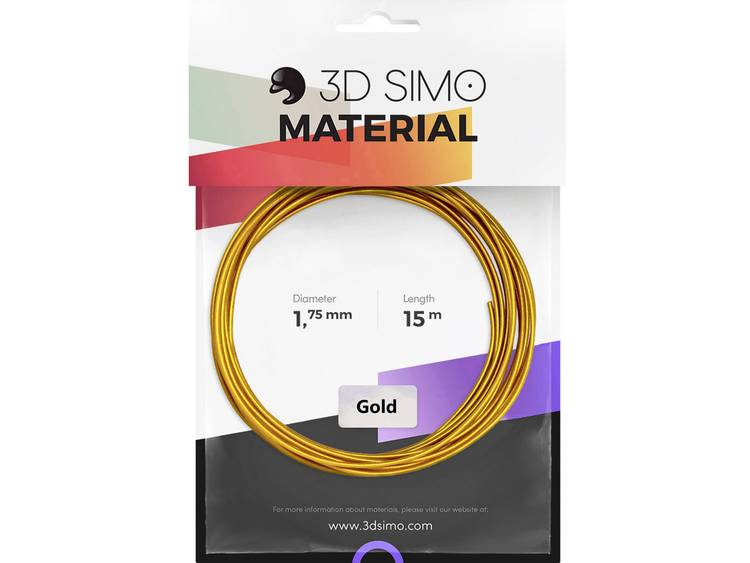 3D Simo 3Dsimo Gold Filament 1.75 mm 40 g