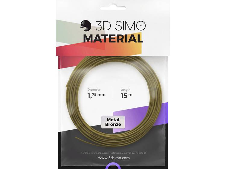 3D Simo 3Dsimo Metall Bronze Filament 1.75 mm 40 g