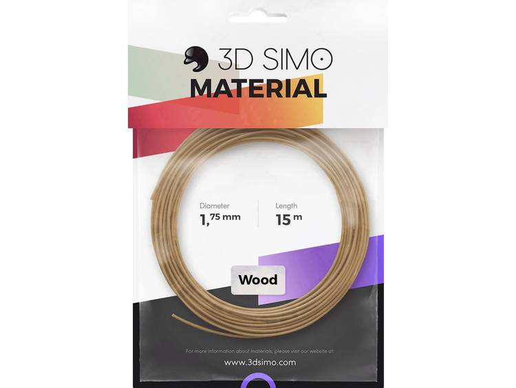 3D Simo 3Dsimo Wood Holz braun Filament 1.75 mm 40 g