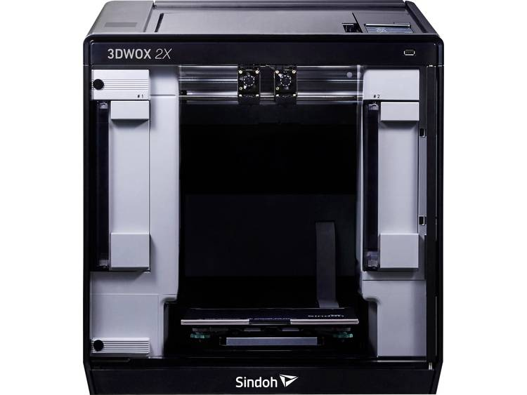 3D-printer Sindoh 3DWOX 2X 12,7 cm kleuren-touchscreen, Geïntegreerde camera, Flexibel metaalbed, Incl. software
