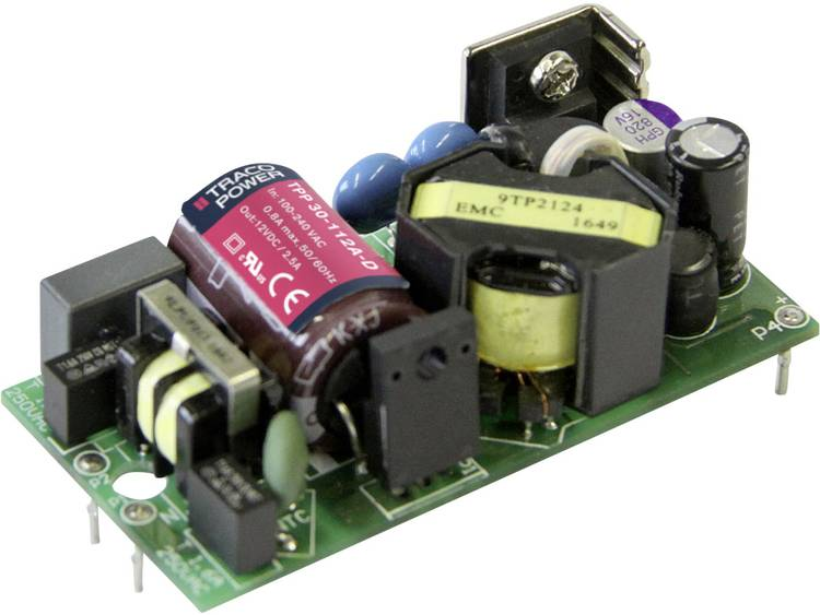 AC/DC inbouwnetvoeding open TracoPower TPP 30-112A-D +12.0 V/DC 2500 mA