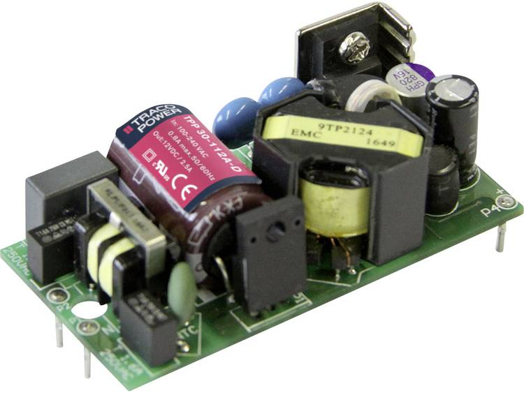 AC/DC inbouwnetvoeding open TracoPower TPP 30-124A-D +24.0 V/DC 1250 mA