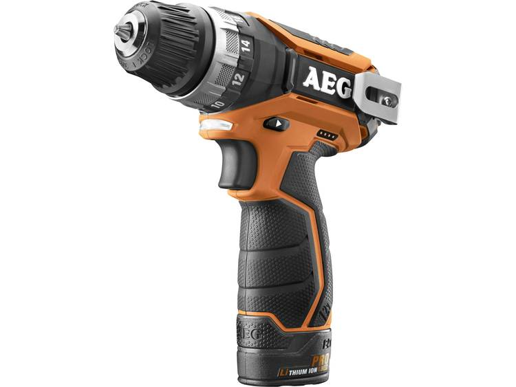 Accuschroefboormachine AEG Powertools BS12C2 Incl. 2 accus, Incl. tas 12 V 1.5 Ah Li-ion