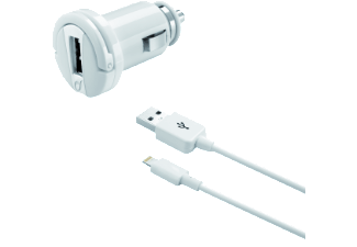 CELLULAR-LINE Car Charger Kit Lightning 2A Wit