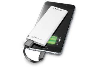 CELLULAR-LINE Portable Charger USB Free Power Slim 3000mAh Wit