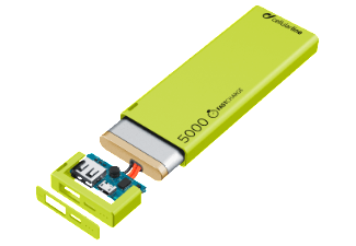 CELLULAR-LINE Portable Charger USB Free Power Slim 5000mAh Groen