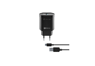 CELLULAR-LINE Reislader-kit 18W USB-C Qualcomm Huawei & other Zwart