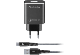 CELLULAR-LINE Travel Charger Kit 18 Watt USB-C Tetra Force Zwart
