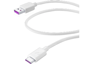 CELLULAR-LINE USB-kabel USB-A naar USB-C 1.2m Huawei Super Charge Wit