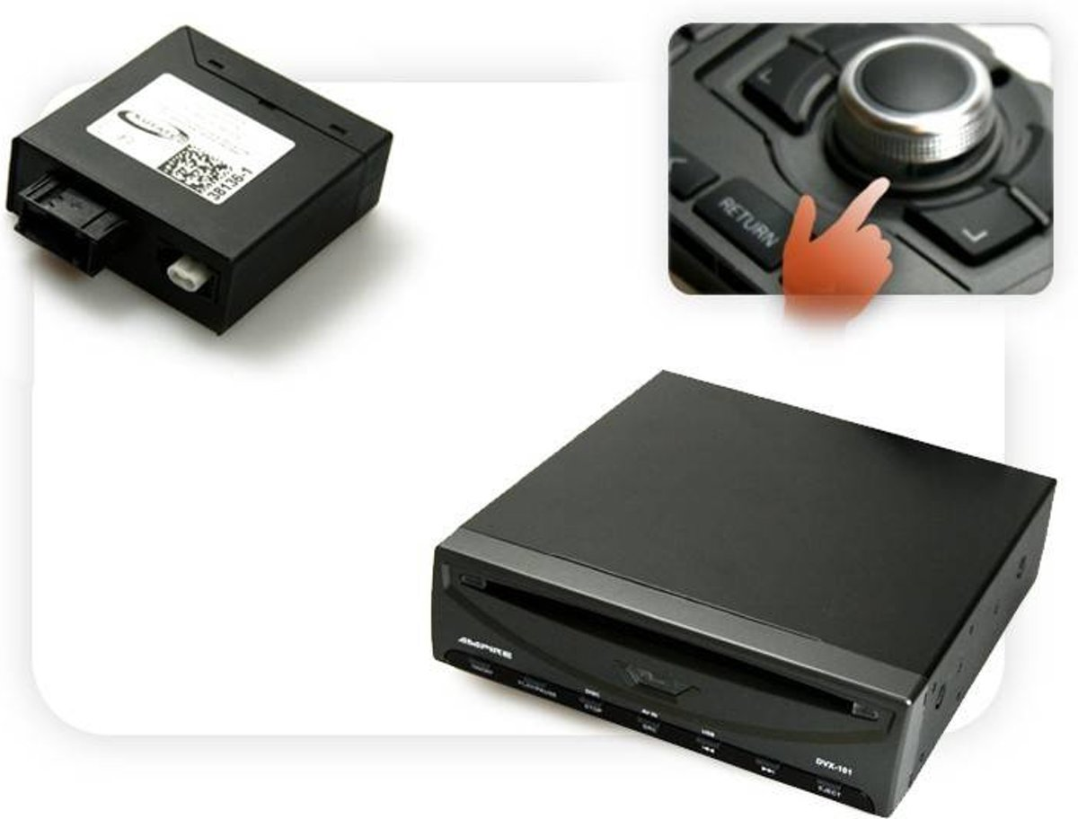 DVD-speler USB + Multimedia Adapter - w / OEM Controle
