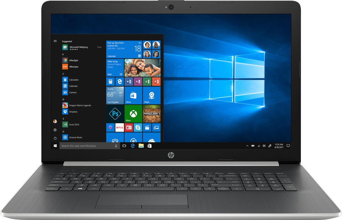 HP 17-by1078nb - Laptop - 17.3 Inch - Azerty