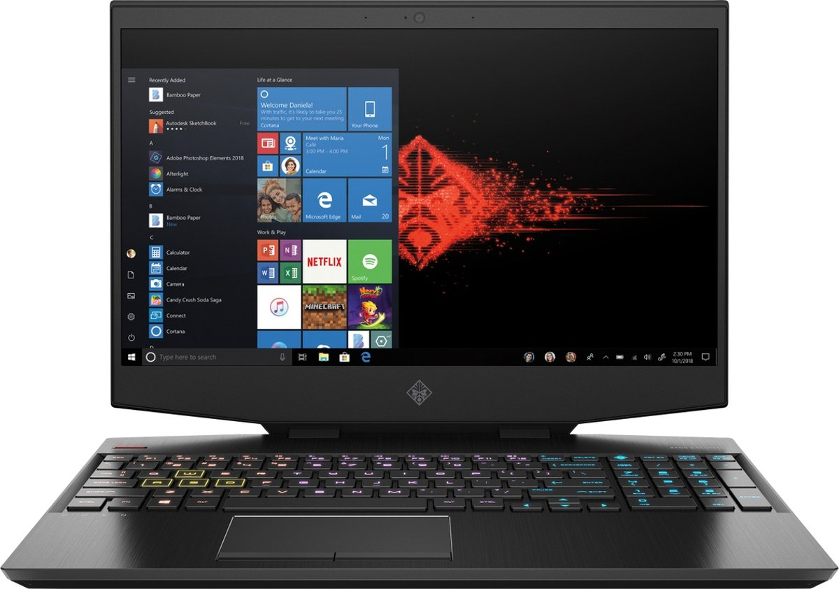 HP Omen 15-dh0700nd - Gaming Laptop - 15.6 Inch