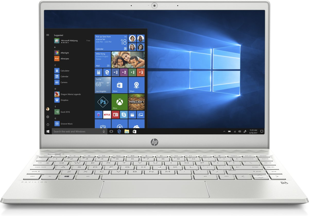 HP Pavilion 13-an0019nb - Laptop - 13.3 Inch - Azerty