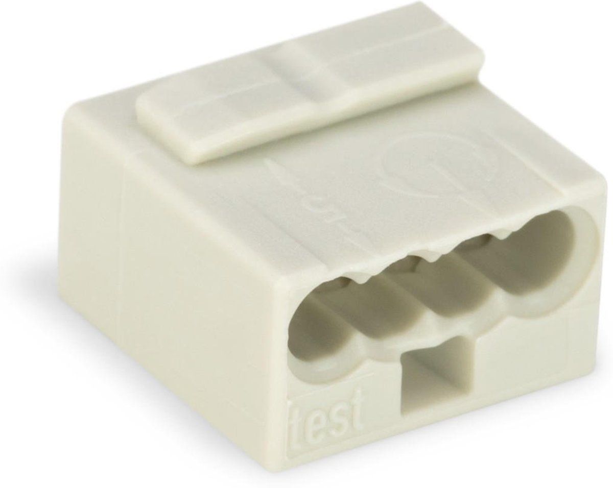 MICRO JUNCTION AND DISTRIBUTION CONNECTORS 4-CONDUCTOR TERMINAL BLOCK, LIGHT GREY (WG243304)