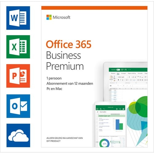 Microsoft Office 365 Business Premium 1 licentie 1 jaar