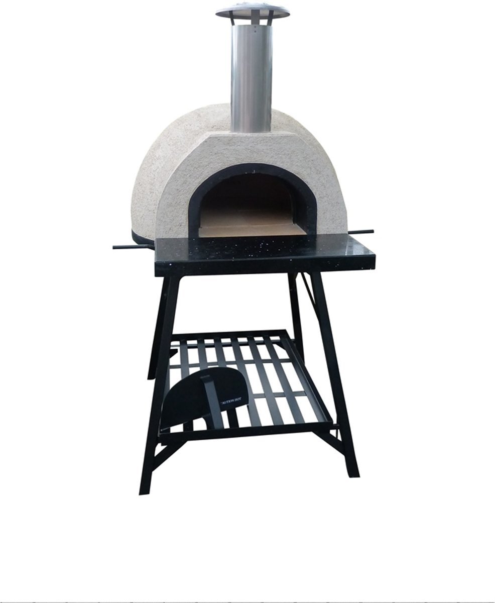 Pizzaoven Amalfi AD70 Black Front JO stand
