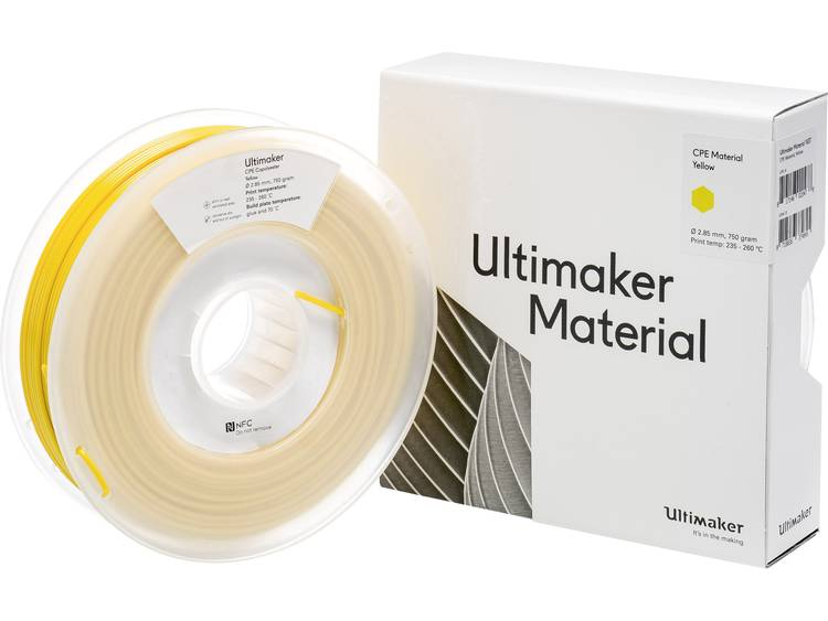 Ultimaker CPE - M0188 Yellow 750 - 201273 Filament CPE 2.85 mm Geel 750 g