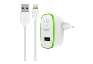 BELKIN BOOST UP Home Charger with Lightning to USB ChargeSync Cable 12 watt/2.4 Amp