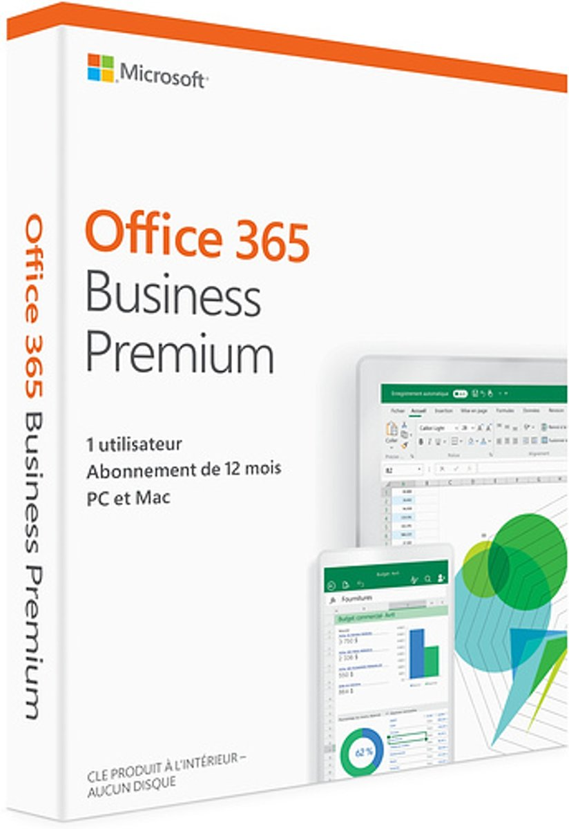 Microsoft Office 365 Business Premium (abonnement de douze mois) - Frans