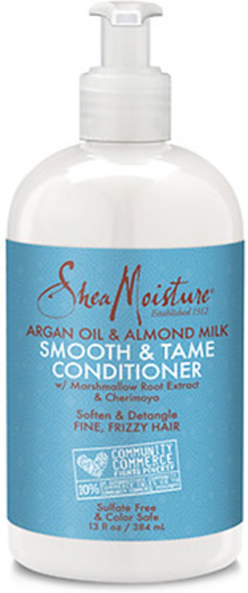 Shea Moisture Argan Oil & Almond Milk Smooth and Tame Conditioner 384ml