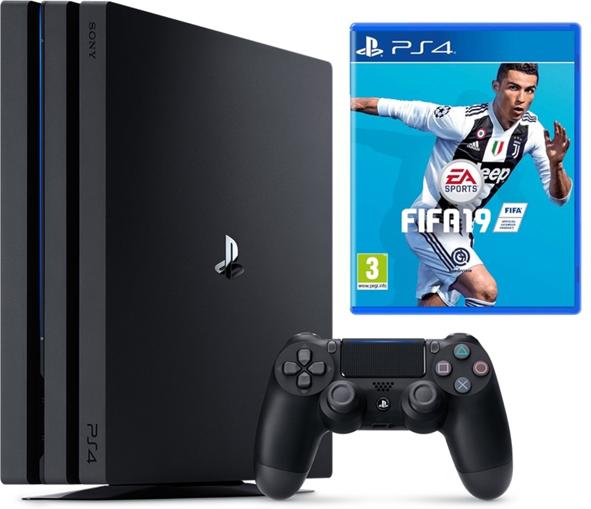 Sony PlayStation 4 Pro Console - incl. FIFA 19 - 1 TB